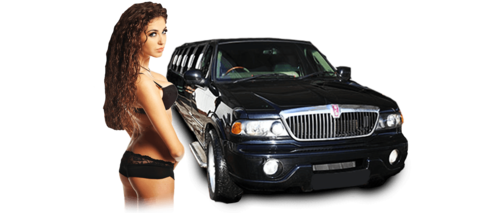 Lincoln Navigator Limo and Sexy Stripper